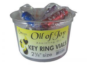 KEY RING OIL OF JOY VIAL DISPLAY 2.5 INCH LARGE PK12
