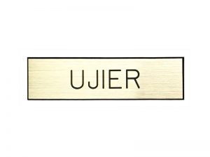 BADGE ENGRAVED SPANISH UJIER / USHER GOLD