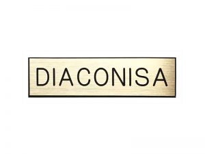 BADGE ENGRAVED SPANISH DIACONISA / DEACONESS GOLD