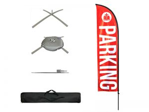 FLAG PARKING RED POLE KIT W CASE