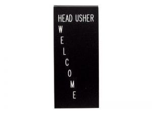 FORM HEAD USHER WELCOME – PACK OF 3