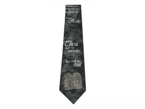 TIE POLYESTER TEN COMMANDMENT BLACK/GREEN