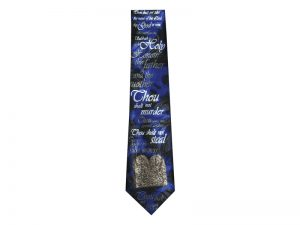 TIE POLYESTER TEN COMMANDMENT BLUE