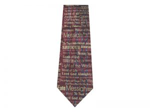 TIE POLYESTER I AM BURGUNDY