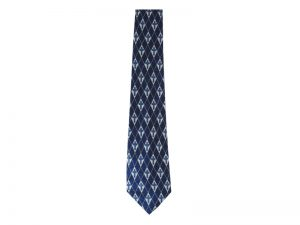TIE POLYESTER DIAMOND CROSS NAVY