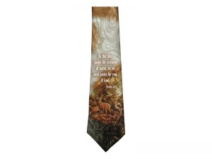 TIE POLYESTER PSALM 42:1 AS THE DEER