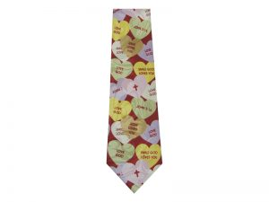 119 POLY JESUS CANDY HEART TIE