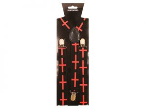 SUSPENDER RED CROSS REPEATING