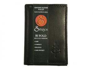 WALLET CREDIT CARD HOLDER LEATHER BLACK