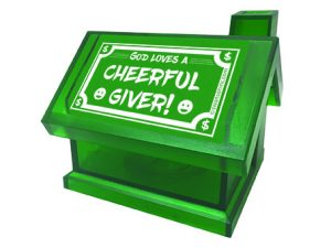 BANK PLASTIC CHEERFUL GIVER GREEN