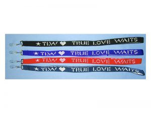 LANYARD TRUE LOVE WAITS ASSORTED COLORS PK12