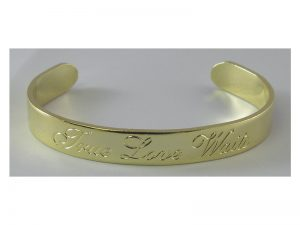 BRACELET TRUE LOVE WAITS GOLDTONE