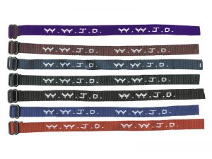 BRACELET WOVEN WWJD ASSORTED COLORS PK150