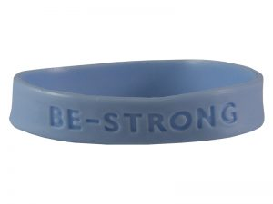 BRACELET BE STRONG SILICONE ASSORTED COLORS PK25