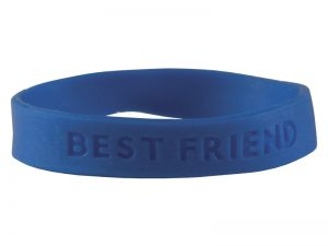 BRACELET BEST FRIEND SILICONE ASSORTED COLORS PK25