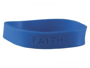 BRACELET FAITH SILICONE ASSORTED COLORS PK25