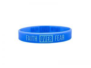 """POWER BAND (1/2″) """"FAITH OVER FEAR"""" – 12 PK"""