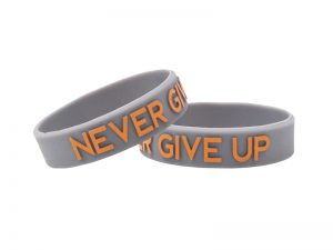 "POWER BAND (1/2″) ""NEVER GIVE UP"" – 12 PK"