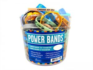 POWER BAND DISPLAY ASSORTED 120 PK