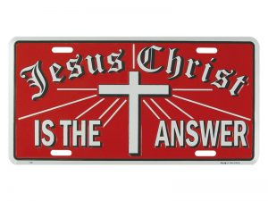 AUTOTAG JESUS CHRIST IS THE ANSWER