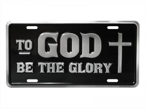 AUTOTAG DELUXE TO GOD BE GLORY SILVER