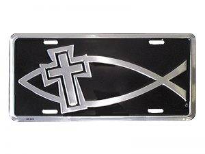 AUTOTAG DELUXE FISH CROSS SILVER