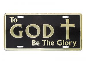 AUTOTAG DELUXE GOLD TO GOD BE GLORY