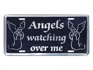 AUTOTAG DELUXE SILVER  ANGELS WATCH ME