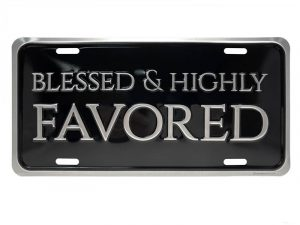 AUTOTAG DELUXE BLESSED & HIGHLY FAVORED