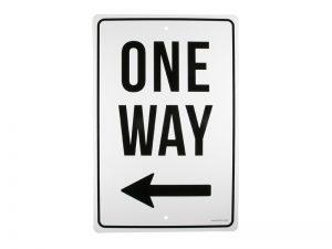 PARKING SIGN ONE WAY LEFT ARROW..