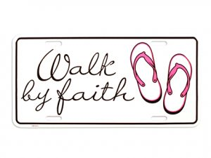 AUTOTAG WALK BY FAITH W/FLIP FLOPS