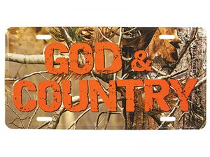 AUTOTAG CAMO GOD & COUNTRY