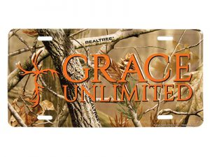 AUTOTAG CAMO GRACE UNLIMITED W/CROSS