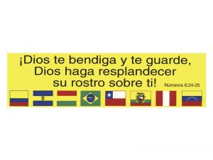 SPANISH BUMPER STICKER DIOS TE BENDIGA – PACK OF 6