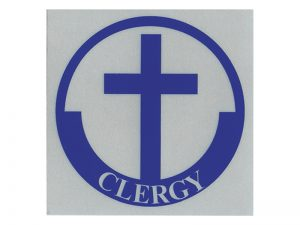 CLERGY SCOTCH REFLECTIVE STICKER PK12