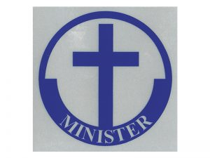 MINISTER SCOTCH REFLECTIVE STICKER PK12