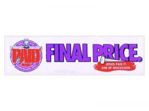 BUMPER STICKER FINAL PRICE – PACK OF 6