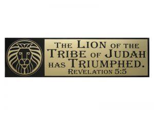 BUMPER STICKER LION OF JUDAH – PACK OF 6