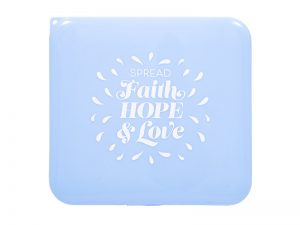 FACE MASK CASE FAITH HOPE LOVE BLUE