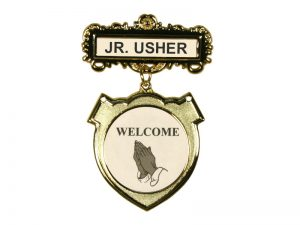 BADGE SHIELD JR. USHER ETHNIC PRAYING HAND MAGNET